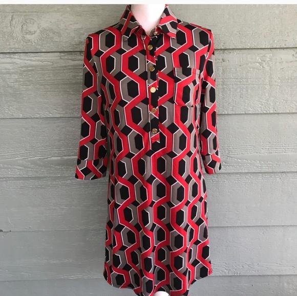 Tracy Negoshian Dresses & Skirts - Nwt print shirt dress